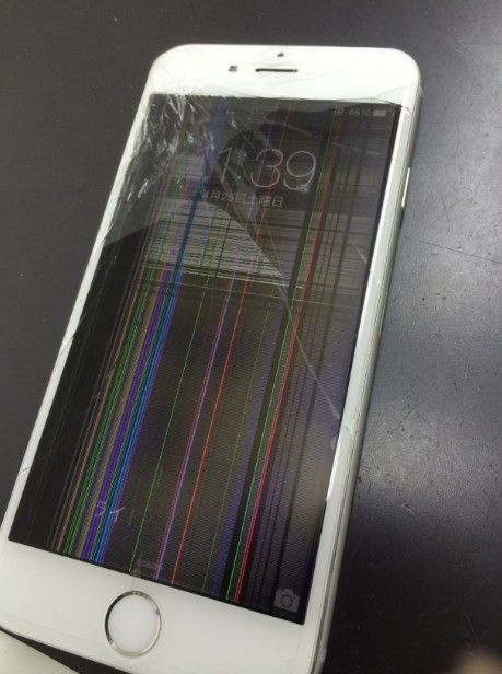 iPhone6 液晶割れ